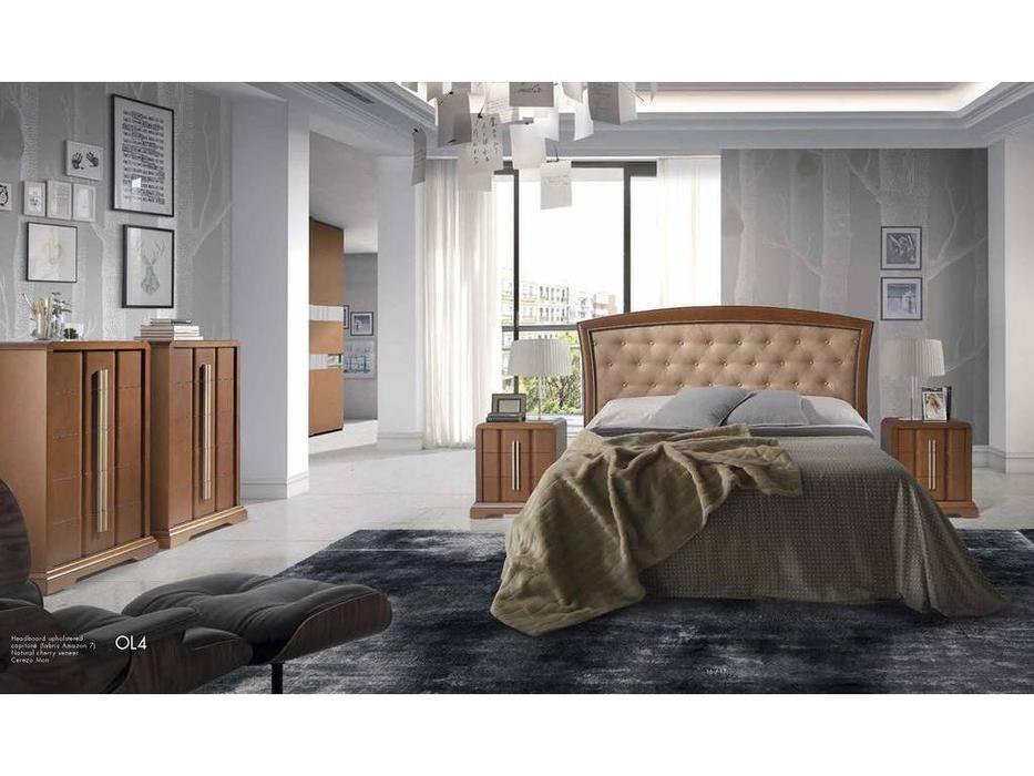 Monrabal Chirivella: Olivia: кровать 160х200 с обивкой (черешня)