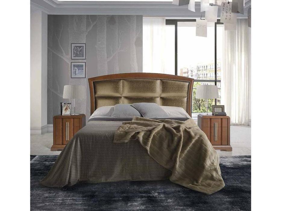 Monrabal Chirivella: Olivia: кровать 180х200 с обивкой (черешня)