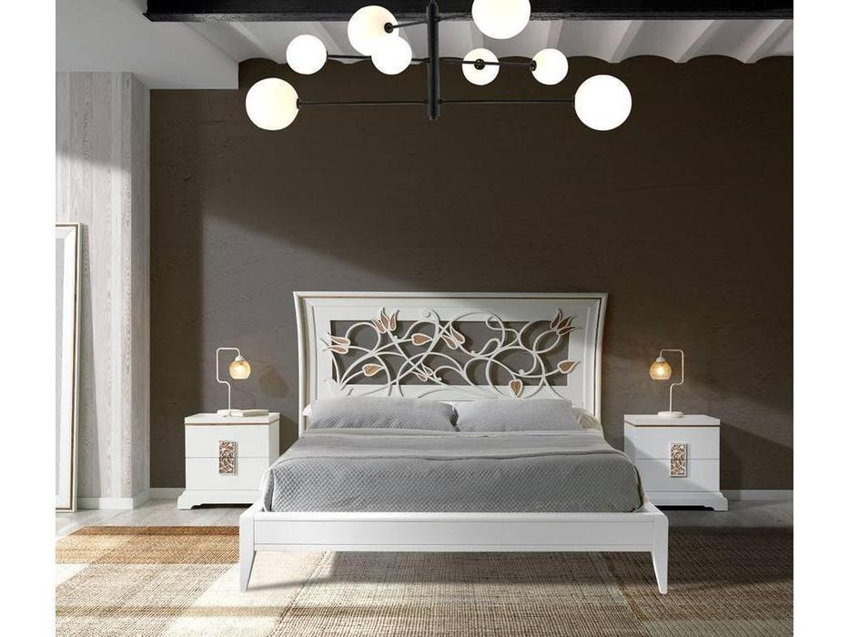 Monrabal Chirivella: Nicol: кровать 160х200 (дуб, белый)