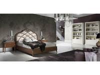 Monrabal Chirivella: Valeria: кровать Paris 180х200 с обивкой и резьбой (черешя)