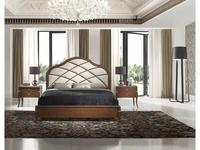 Monrabal Chirivella: Valeria: кровать Paris 160х200 с обивкой (черешня)