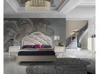 Monrabal Chirivella: Valeria: кровать Paris 180х200 с обивкой и резьбой (белый)