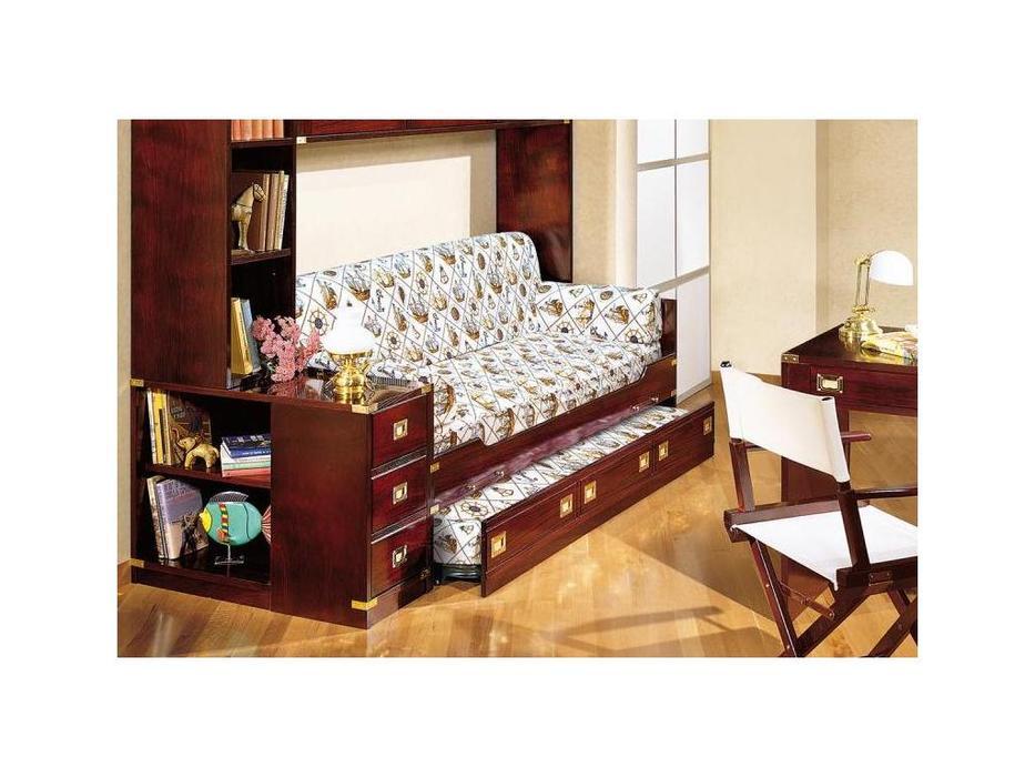 Caroti: кровать с выдвижной сеткой  (темный)
