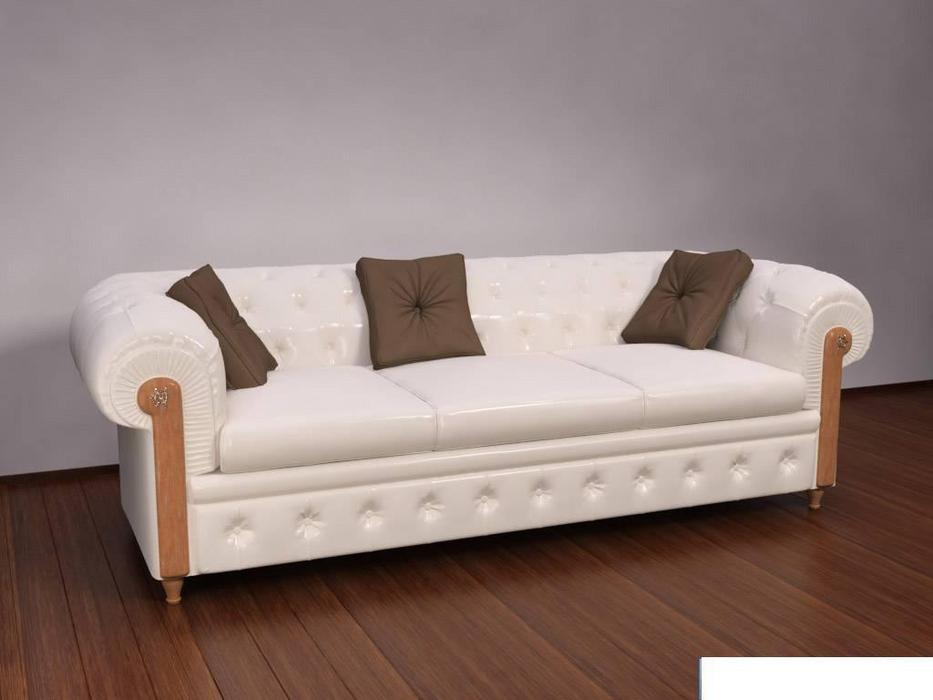 Caroti: Честер: диван 3-х местный  (белый)