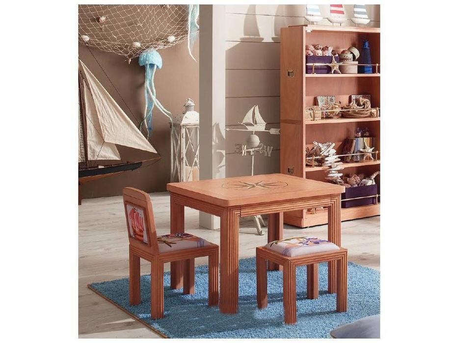 Caroti: стул мини  мягкий (натуральный светлый, ткань)