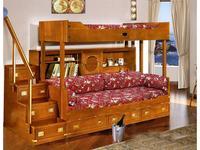 Caroti: кровать двухъярусная  (натуральный светлый)