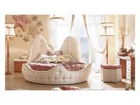 Caroti: кровать круглая двуспальная  (белый)