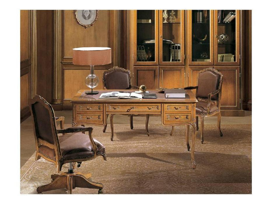 Angelo Cappellini: Bernini: стол письменный  (LOO, кожа PX8816)