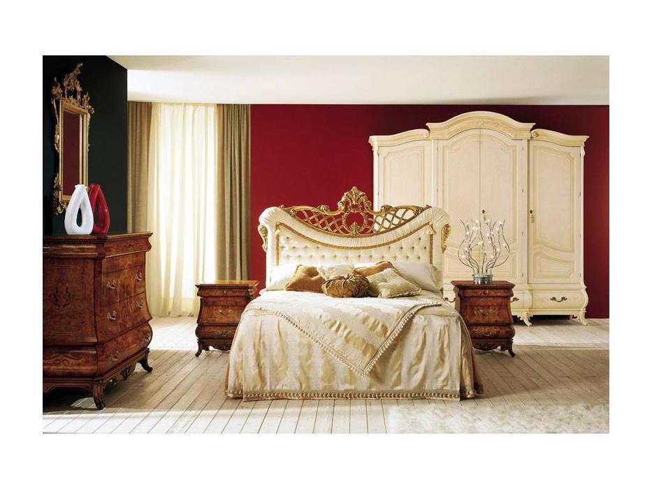 Grilli Грилли: Рондо: кровать 160х190 Капитоне  (слоновая кость)