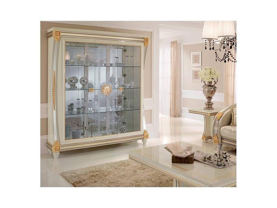 Arredo Classic: Liberty: витрина 3-х дверная (слоновая кость)