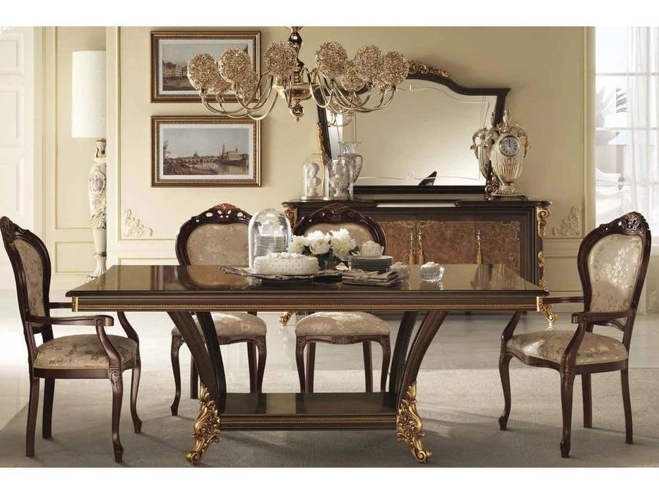 Arredo Classic: Sinfonia: стул с подлокотниками ткань cat. А (орех, золото)