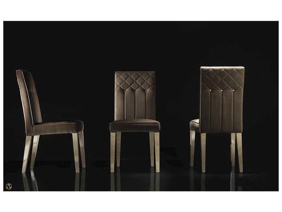 Arredo Classic: Sipario: стул B (слоновая кость, бархат золото)