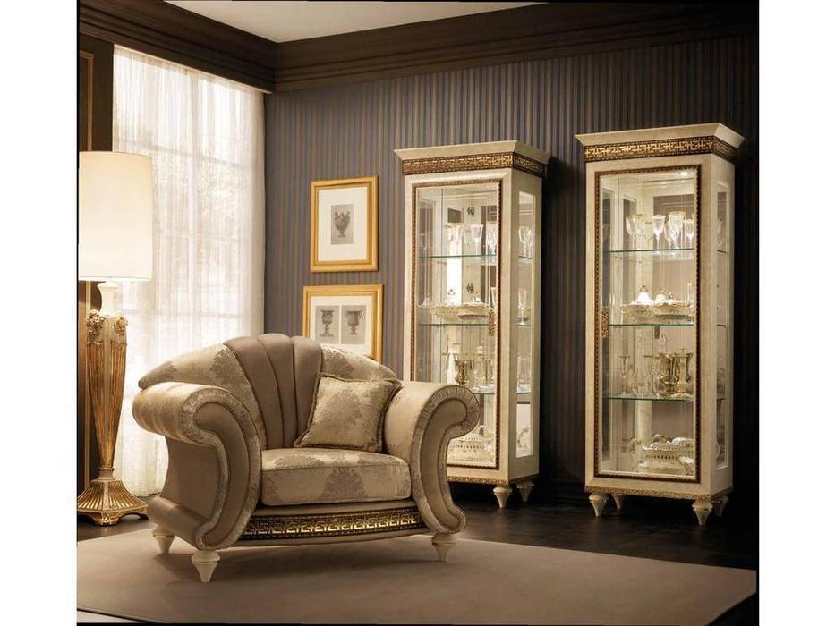 Arredo Classic: Fantasia: витрина 1 дверная (слоновая кость, золото)