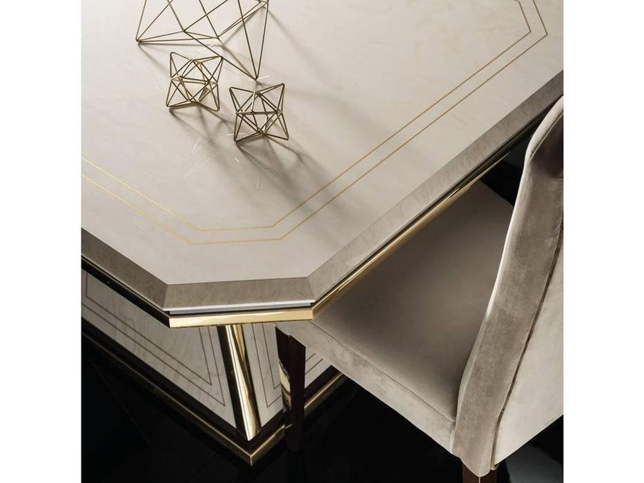 Arredo Classic: Diamante: стол обеденный 250см раскладной (слоновая кость, вяз, золото)