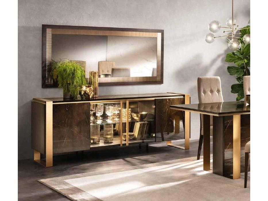 Arredo Classic: Essenza: буфет 4 дв. центральные двери стекло (венге, коричневый, золото)