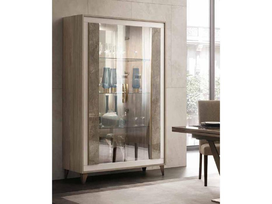 Arredo Classic: Ambra: витрина 2 дверная (вяз светлый)