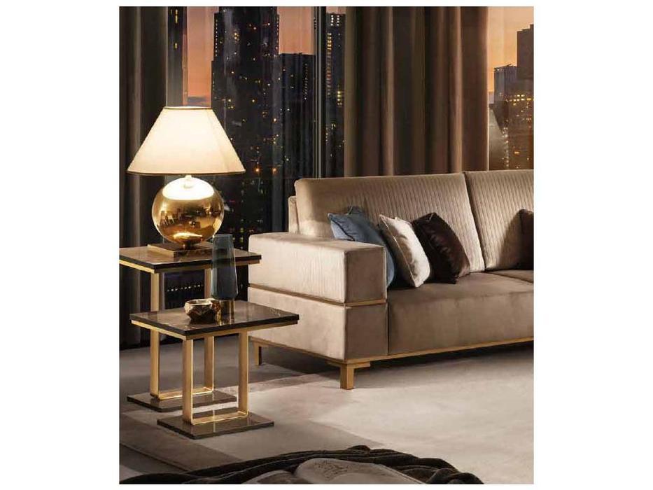 Arredo Classic: Essenza: стол кофейный h.65 (венге, коричневый, золото)