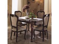 Arredo Classic: Donatello: стол обеденный квадратный раскладной (орех)