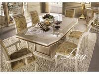 Arredo Classic: Leonardo: стол обеденный (слоновая кость)