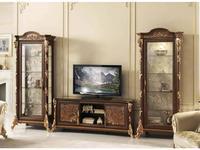 Arredo Classic: Sinfonia: тумба под телевизор (орех, золото)