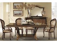 Arredo Classic: Sinfonia: стол обеденный раскладной (орех, золото)