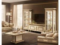 Arredo Classic: Fantasia: стенка в гостиную (слоновая кость, золото)