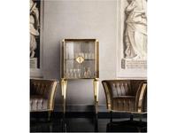 Arredo Classic: Diamante: витрина малая, двери стекло (слоновая кость, вяз, золото)
