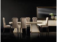 Arredo Classic: Diamante: стол обеденный раскладной (слоновая кость, вяз, золото)