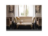 Arredo Classic: Diamante: стол журнальный 140см (слоновая кость, вяз, золото)