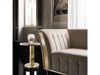 Arredo Classic: Diamante: стол кофейный (слоновая кость, вяз, золото)