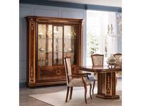 Arredo Classic: Modigliani: витрина 3 дверная стенка ткань (орех)