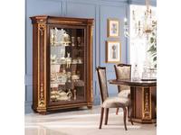 Arredo Classic: Modigliani: витрина 2 дверная полки стекло, стенка зеркало (орех)