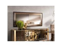 Arredo Classic: Essenza: зеркало настенное арт.30 (венге, коричневый, золото)