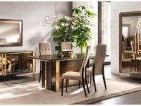 Arredo Classic: Essenza: стол обеденный 200 (венге, коричневый, золото)
