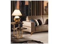 Arredo Classic: Essenza: стол кофейный h.50 (венге, коричневый, золото)