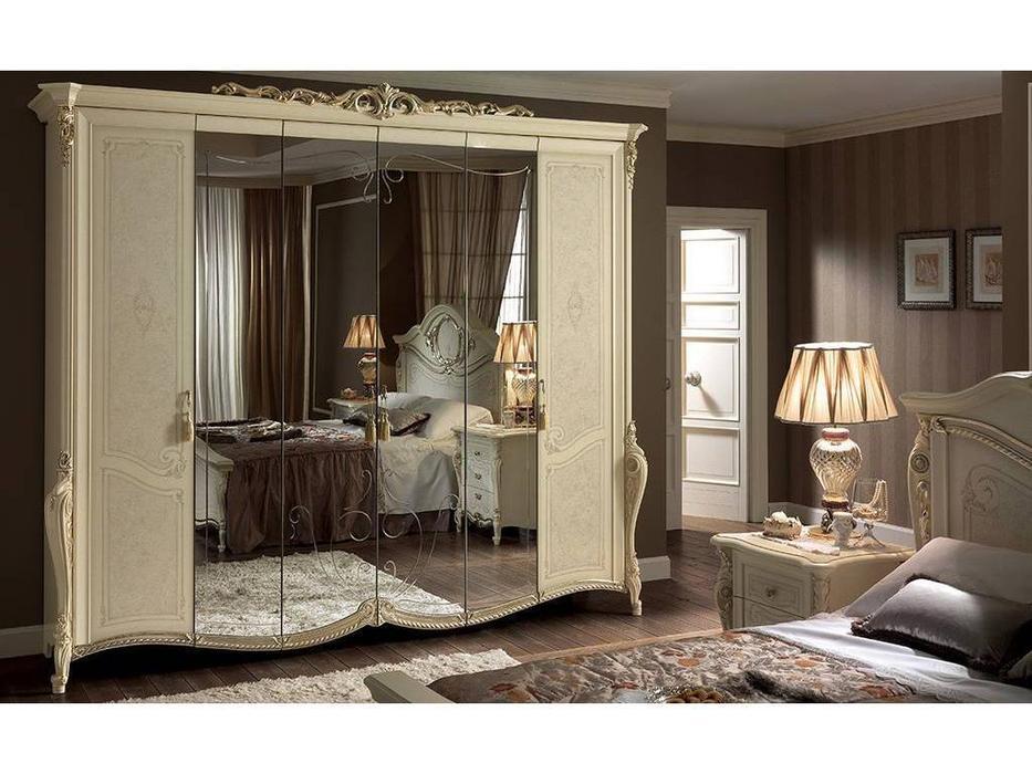 Arredo Classic: Tiziano: шкаф 6-и дверный (слоновая кость, золото)