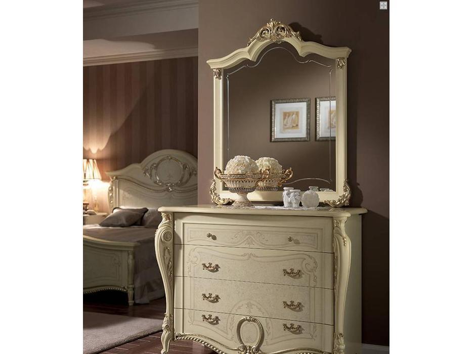 Arredo Classic: Tiziano: зеркало для комода (слоновая кость с золотом)