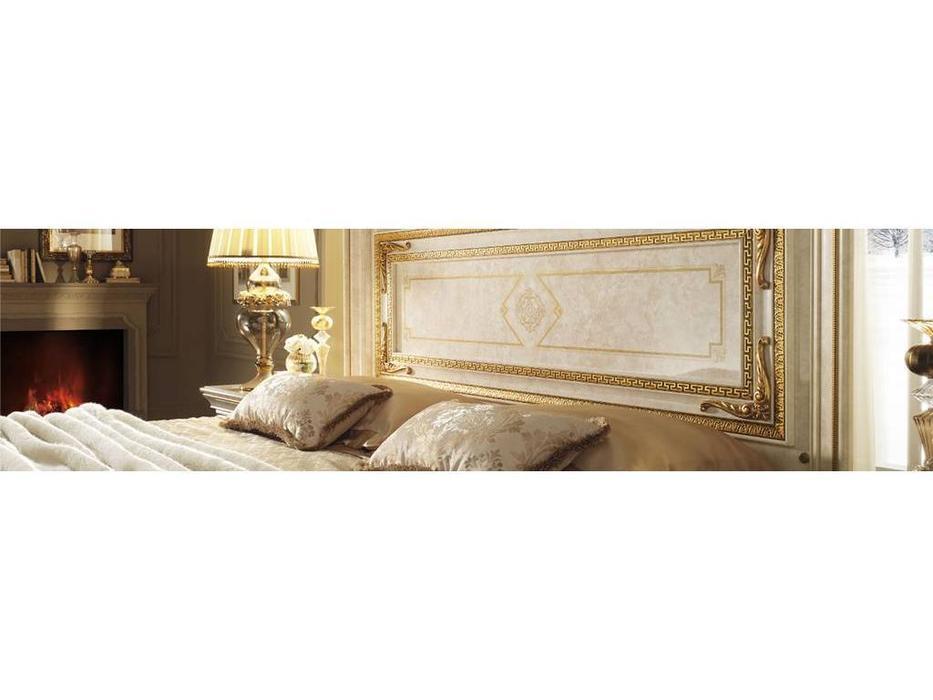 Arredo Classic: Leonardo: кровать 200х200 без короны (крем, золото)