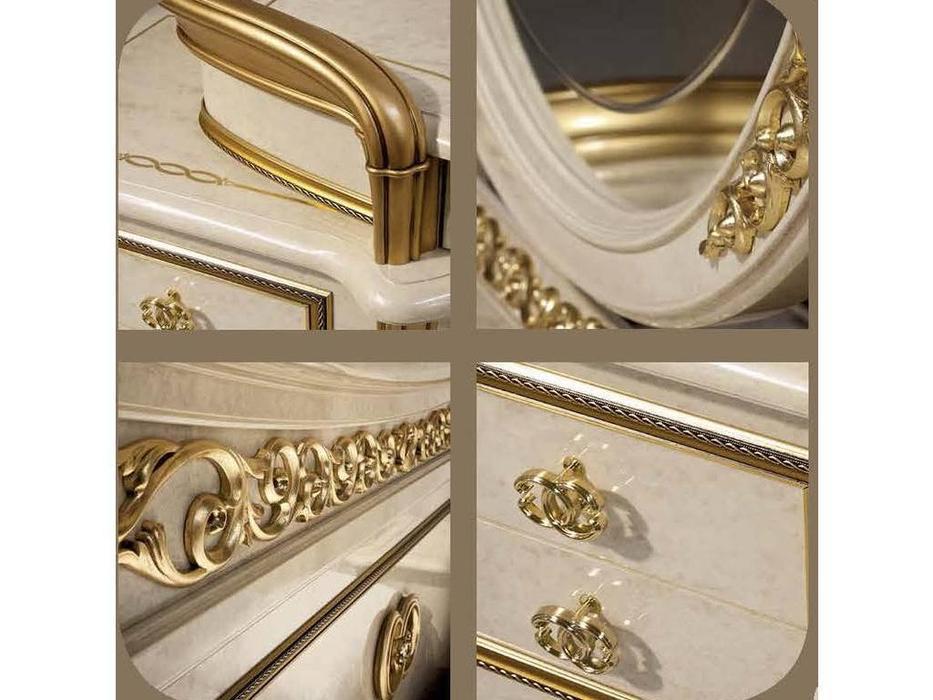 Arredo Classic: Melodia: стол туалетный (беж, золото)