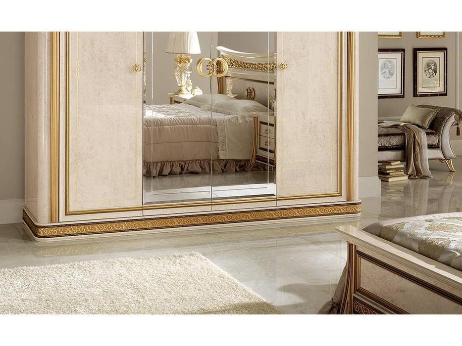 Arredo Classic: Melodia: шкаф 4-х дверный (беж, золото)