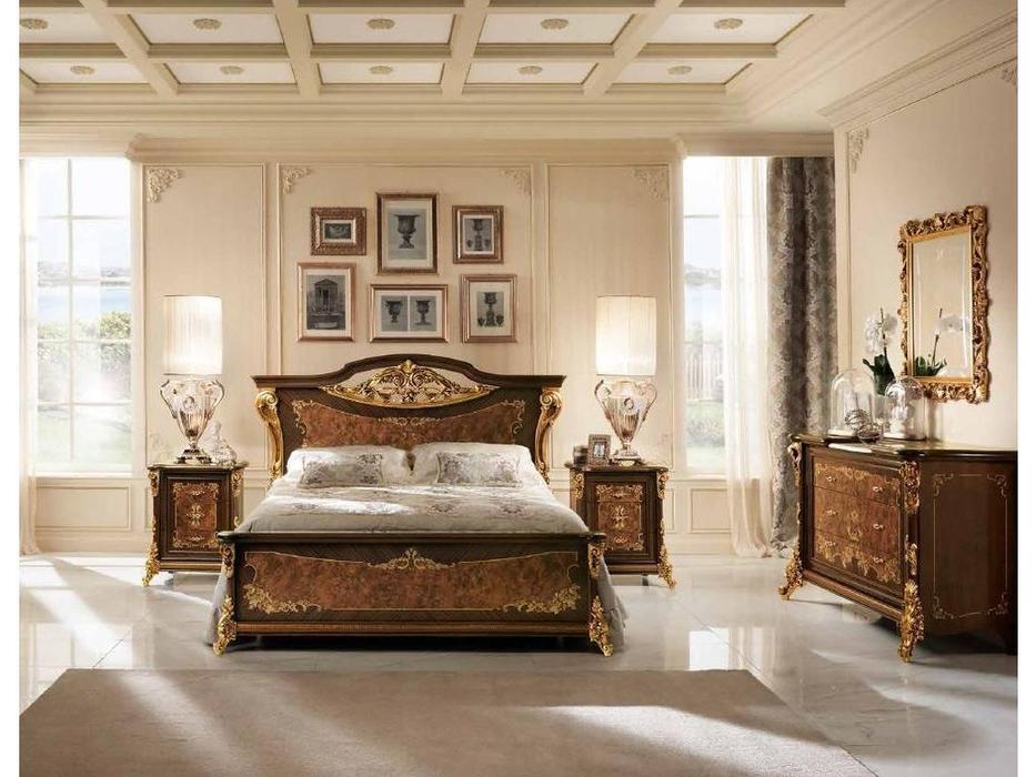 Arredo Classic: Sinfonia: кровать 180/200х200  (орех, золото)