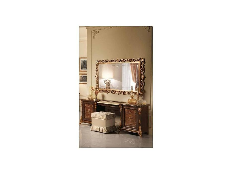 Arredo Classic: Sinfonia: зеркало  для туалетного стола (орех, золото)