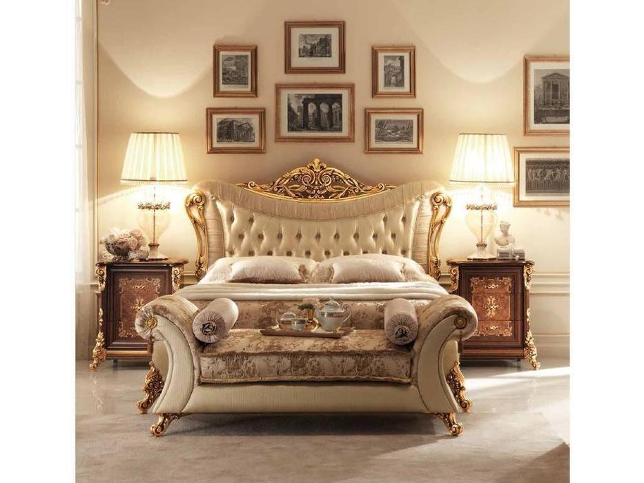 Arredo Classic: Sinfonia: кровать 200х200  (орех, золото)