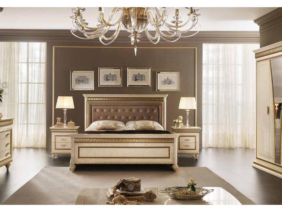 Arredo Classic: Fantasia: кровать 180х200 с мягкой спинкой (кремовый мраморный)