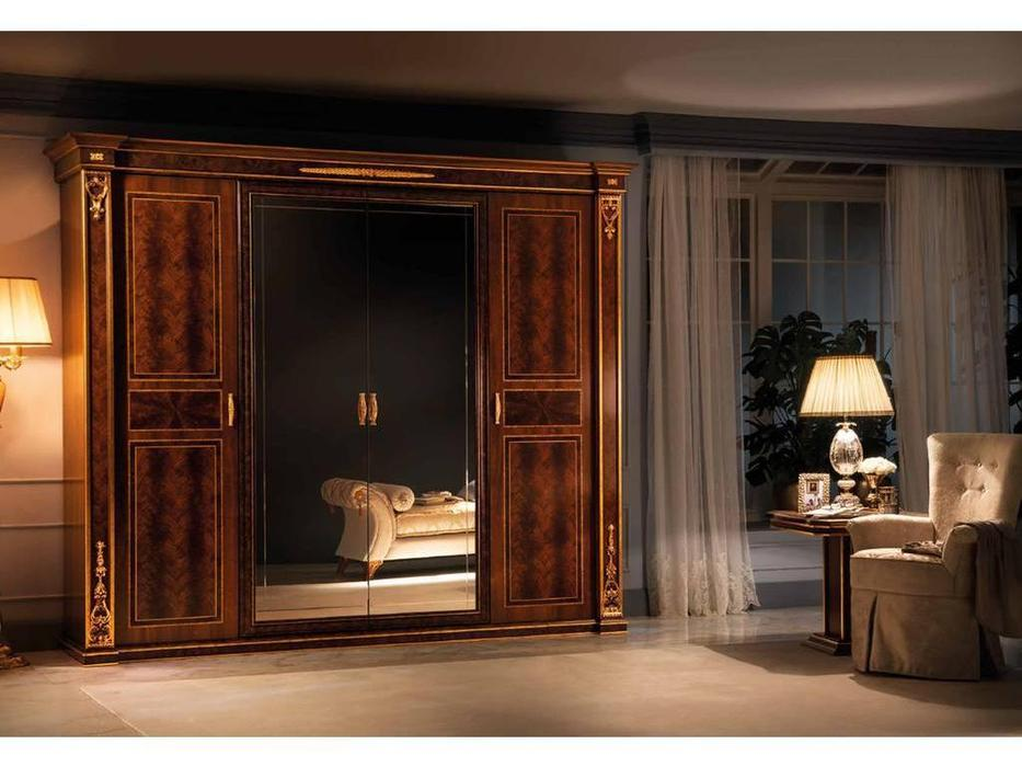 Arredo Classic: Modigliani: шкаф 4 дверный 2 зеркала (орех)