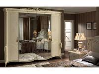 Arredo Classic: Tiziano: шкаф 6-и дверный (слоновая кость с золотом)