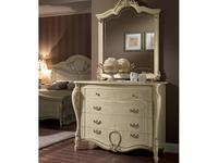 Arredo Classic: Tiziano: комод 4 ящика (слоновая кость, золото)