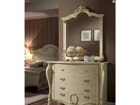 Arredo Classic: Tiziano: зеркало для комода (слоновая кость, золото)