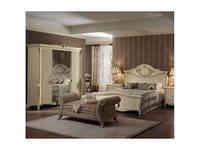 Arredo Classic: Tiziano: шкаф 4-х дверный (слоновая кость, золото)