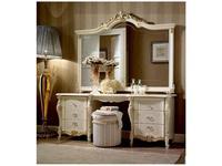 Arredo Classic: Tiziano: зеркало для стола туалетного (слоновая кость с золотом)